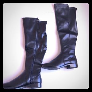 Black Over the Knee Riding Boots